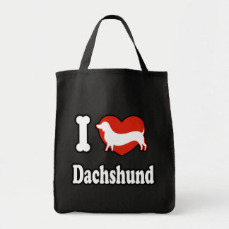 I love Dachshund Tote Bag