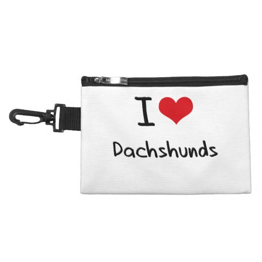 I Love Dachshunds Accessories Bag