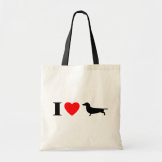 I Love Dachshunds Bag