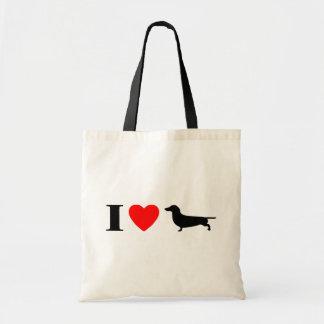 I Love Dachshunds Bag