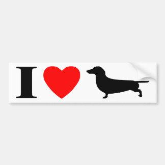 I Love Dachshunds Bumper Sticker Car Bumper Sticker