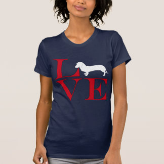 I Love Dachshunds - Dark Colored Tee