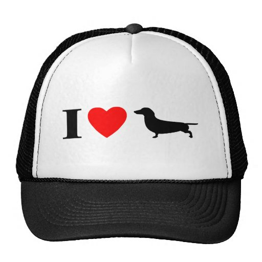 I Love Dachshunds Hat