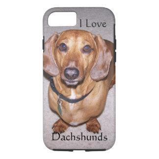 I Love Dachshunds iPhone 7 case
