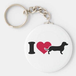 I love Dachshunds Keychain