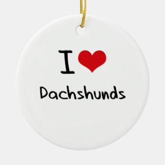 I Love Dachshunds Christmas Tree Ornament