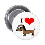 I Love Dachshunds Pin