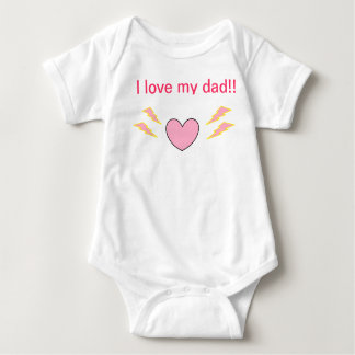 I love dad baby bodysuit