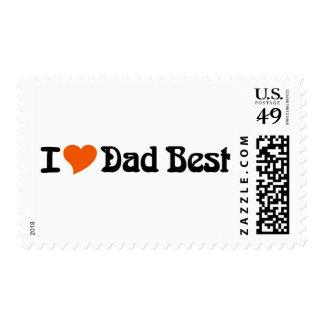 I Love Dad Best Postage