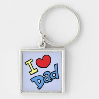 I Love Dad Keychain