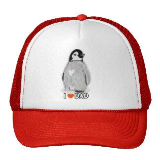 I LOVE DAD PENGUIN baseball cap birthday christmas Trucker Hat