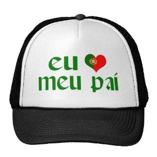 I love Dad - Portuguese Trucker Hat