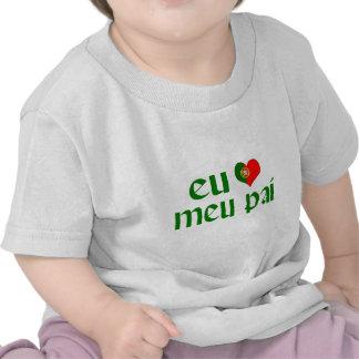 I love Dad - Portuguese T-shirt