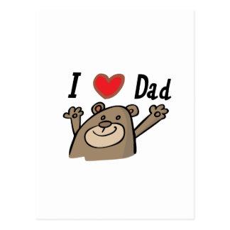 I Love Dad Postcard