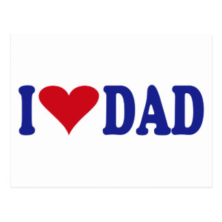 I Love Dad Postcard