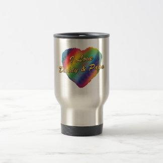 I Love Daddy and Papa Coffee Mug