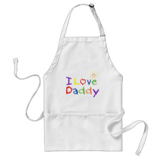 I Love Daddy Adult Apron