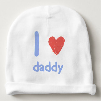 I Love Daddy Baby Beanie