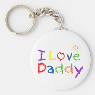 I Love Daddy Keychain