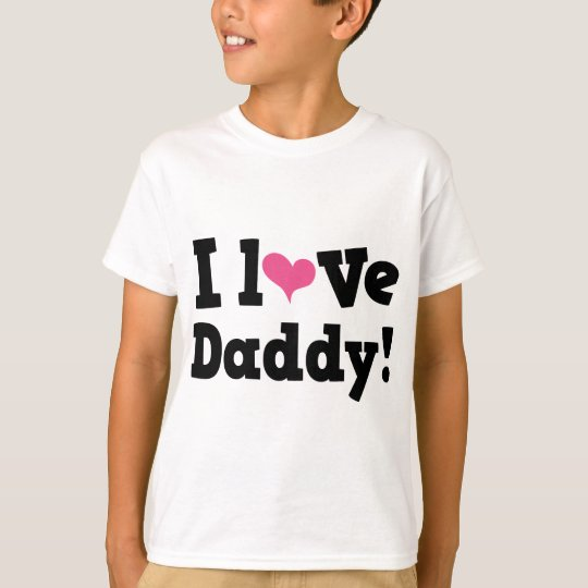 I Love Daddy Pink Heart T-Shirt