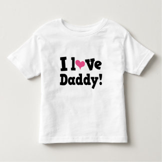 I Love Daddy Pink Heart Toddler T-shirt