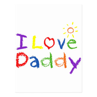 I Love Daddy Postcards