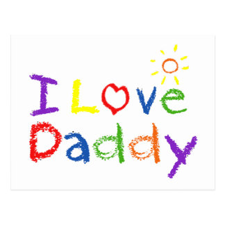 I Love Daddy Post Card