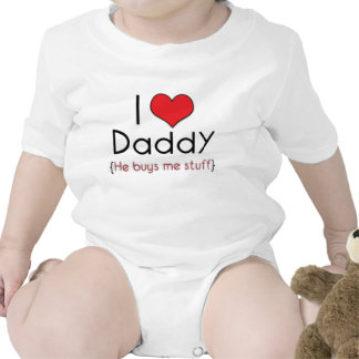 I Love Daddy..(red) Tshirt
