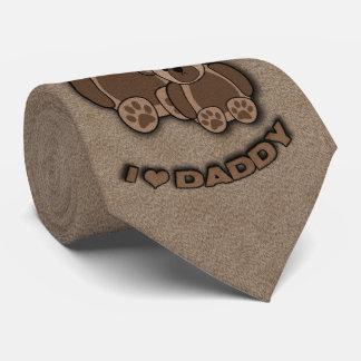 I Love Daddy Teddy Bears Neck Tie