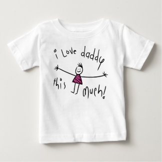 I LOVE DADDY THIS MUCH! NEW FATHERS DAY GIFT IDEA BABY T-Shirt