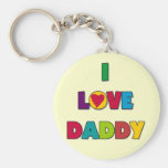 I Love Daddy Tshirts and Gifts Key Chains