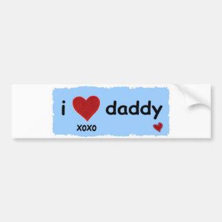 i love daddy xoxo bumper sticker