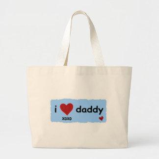 i love daddy xoxo large tote bag