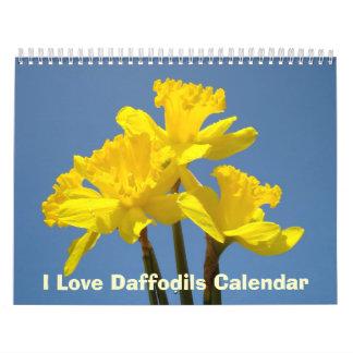 I Love Daffodils Calendars Nature Spring Blue Sky