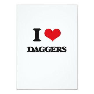 "I love Daggers 5"" X 7"" Invitation Card"