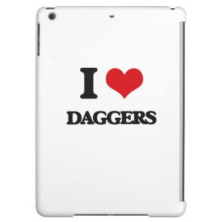 I love Daggers iPad Air Cases