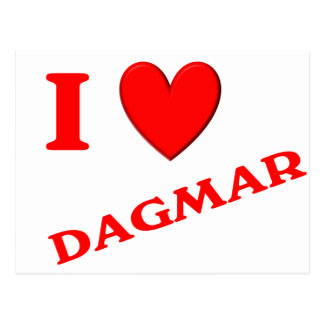 I Love Dagmar Postcard