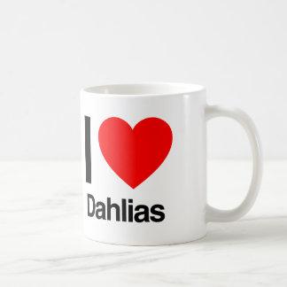 i love dahlias coffee mug