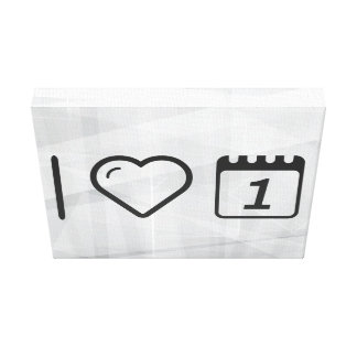 I Love Daily Notes Canvas Print
