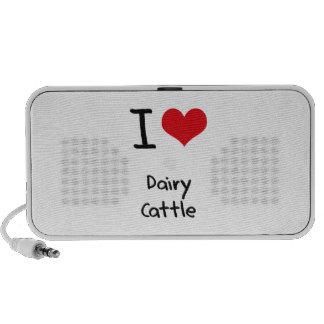 I Love Dairy Cattle Travel Speaker