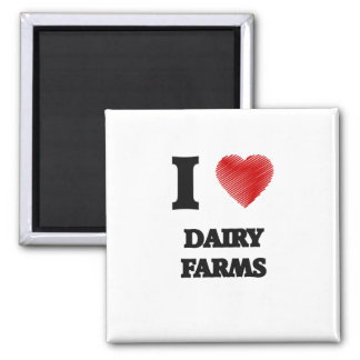 I love Dairy Farms 2 Inch Square Magnet