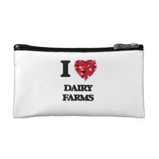 I love Dairy Farms Cosmetics Bags