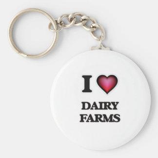 I love Dairy Farms Keychain