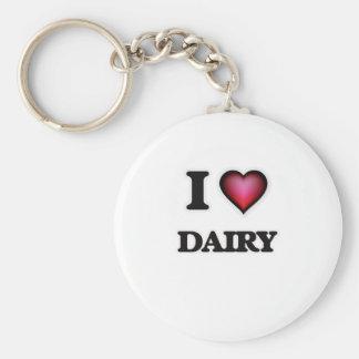 I love Dairy Keychain
