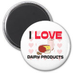 I Love Dairy Products Refrigerator Magnet