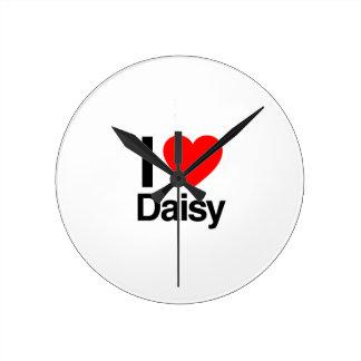 i love daisy round wallclock