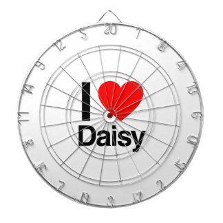 i love daisy dartboard with darts