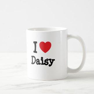 I love Daisy heart T-Shirt Classic White Coffee Mug