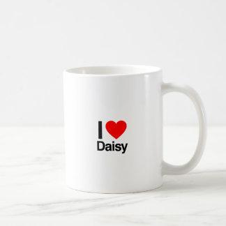 i love daisy classic white coffee mug