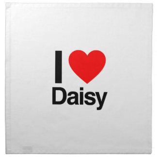 i love daisy cloth napkin